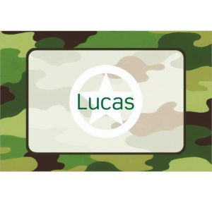Custom Green Camouflage Thank You Notes