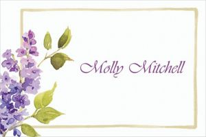 Custom Pretty Posed Lilacs Thank You Notes