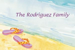 Custom Sandals in the Sand Thank You Notes