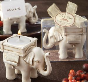Lucky Elephant Tealight Candle Holder