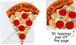 Premium Pizza Party Invitations 8ct