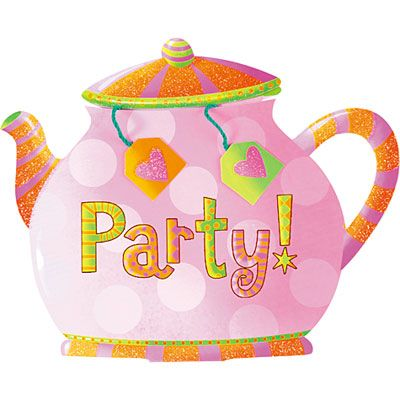 Tea Party Large Invitations 8ct