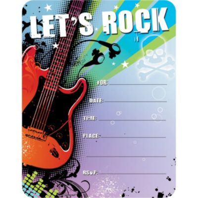 Rock Star Invitations 50ct