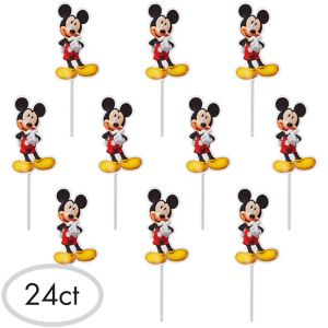 Mickey Mouse Cupcake Picks 24ct