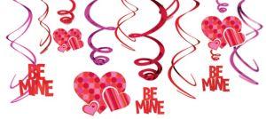 Be Mine Swirl Decorations 12ct