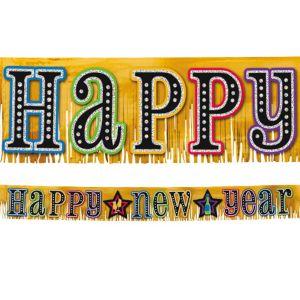 Glitter New Year's Fringe Banner