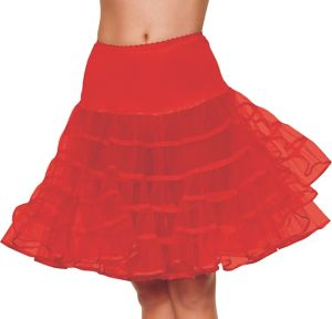 Adult Red Knee Length Petticoat