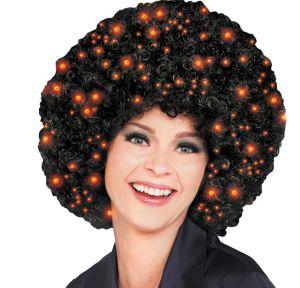 Black Fiber Optic Afro Wig