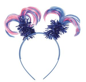Pink & Blue Ponytail Head Bopper