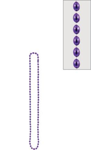 Metallic Purple Bead Necklace