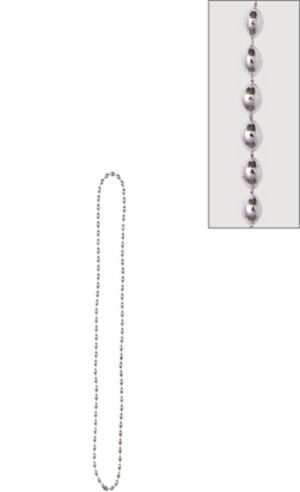 Metallic Silver Bead Necklace