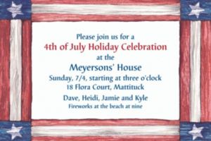 Custom Americana Flag Invitations