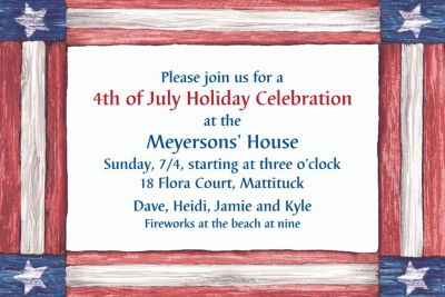Americana Flag Custom Invitation