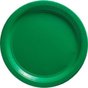 Festive Green Paper Dinner Plates 20ct