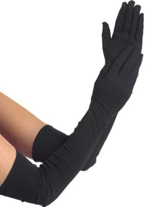 Adult Extra Long Black Gloves