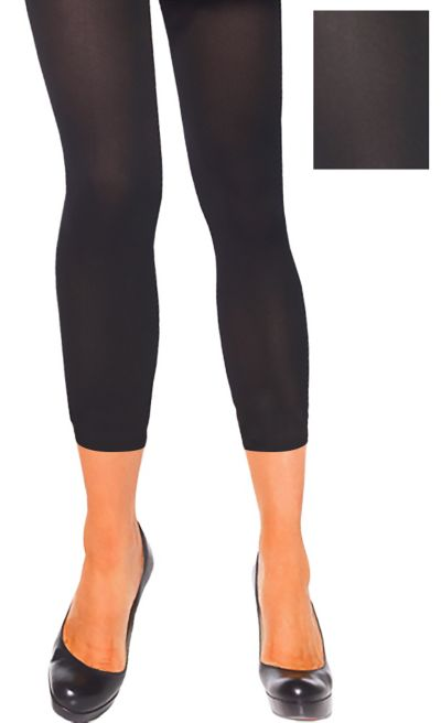 Adult Black Footless Tights