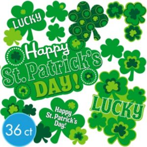 St. Patrick's Day Cutouts 36ct