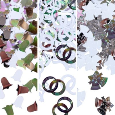 Silver Bells Metallic Confetti 1/2oz