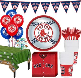 Boston Red Sox Super Party Kit for 18 Guests