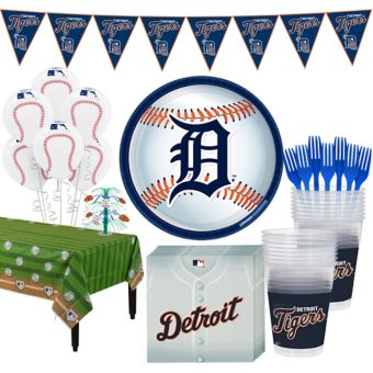 Detroit Tigers Super Party Kit for 16 Guests