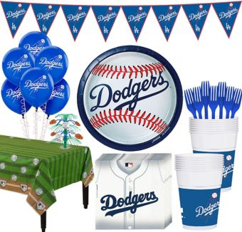 Los Angeles Dodgers Super Party Kit for 16 Guests