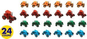 Pull Back Tractors 24ct