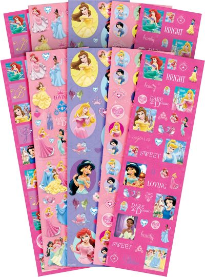 Disney Princess Stickers Value Pack 10 Sheets