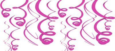 Bright Pink Paper Swirl 22in 12ct