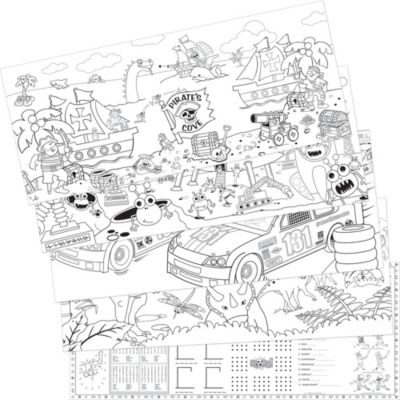 Adventure Coloring Sheets 5ct