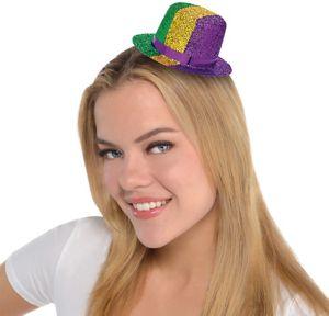 Mini Mardi Gras Top Hat