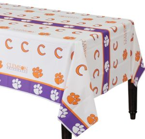 Clemson Tigers Plastic Table Cover