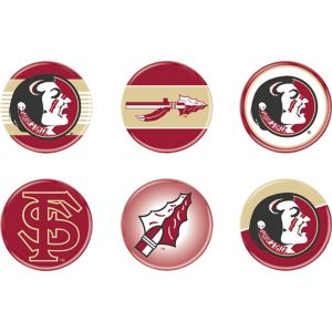 Florida State Seminoles Buttons 6ct