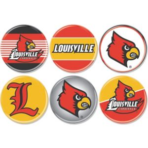 Louisville Cardinals Buttons 6ct