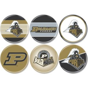 Purdue Boilermakers Buttons 6ct
