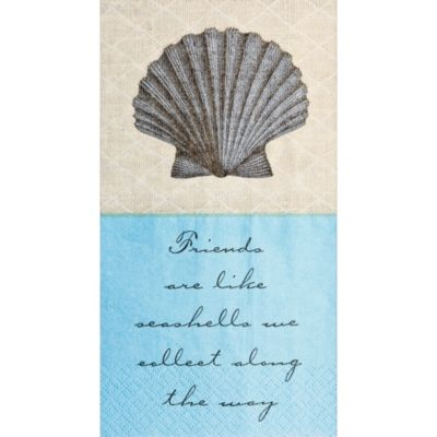 Eco-Friendly Shoreline Guest Towels 16ct