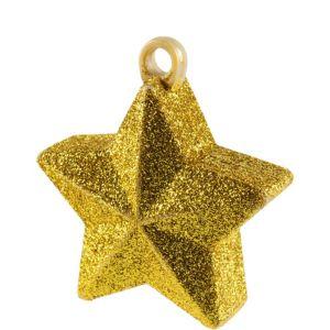 Gold Glitter Star Balloon Weight 6oz