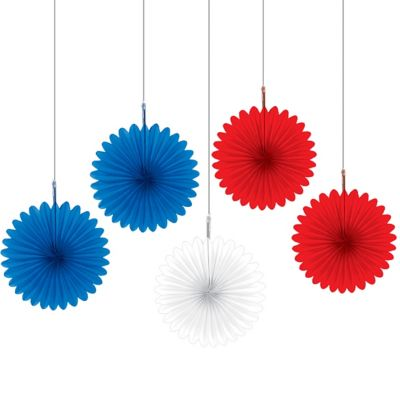 Red, White & Blue Fans 5ct
