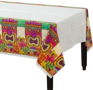 Tropical Tiki Plastic Table Covers 3ct