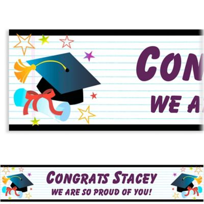 Grad Wishes Custom Graduation Banner