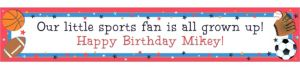Custom Little Champs Birthday Banner 6ft