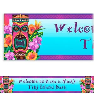 Custom Tiki Island Banner 6ft