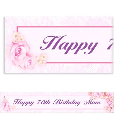 Blossom Custom Birthday Banner