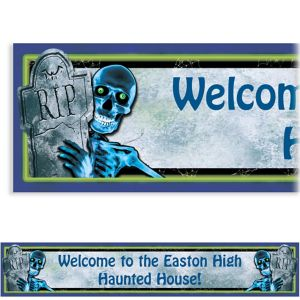 Custom Creepy Bones Halloween Banner 6ft