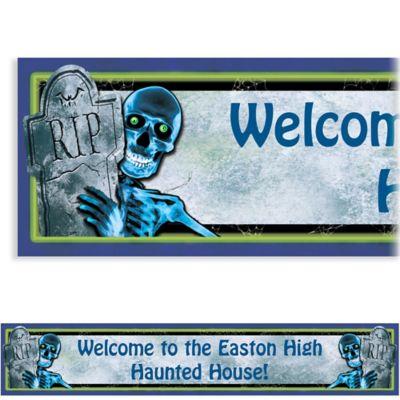 Custom Creepy Bones Halloween Banner 6ft