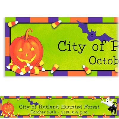 Custom Scary Fun Halloween Banner 6ft