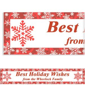 Custom Elegant Red Christmas Banner 6ft