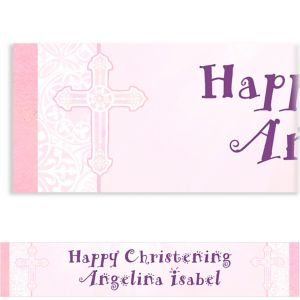Custom Radiant Cross Pink Banner 6ft