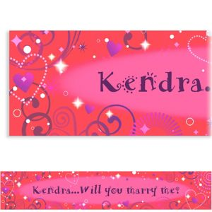Custom Love Crazy Valentine's Day Banner 6ft