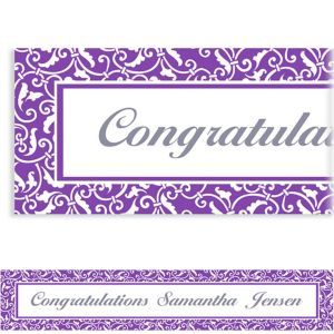 Custom Purple Ornamental Scroll Banner 6ft