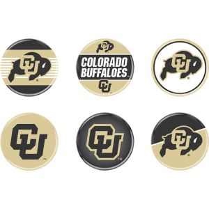 Colorado Buffaloes Buttons 6ct